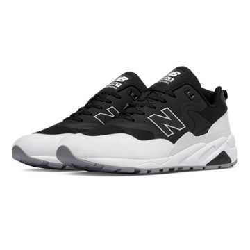 New Balance 580 Re-Engineered, Black with White