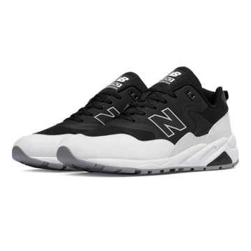 New Balance 580 Re-Engineered, Black with White