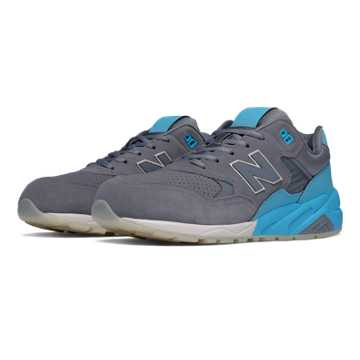 New Balance 580 Elite Edition Solarized, Grey with Light Blue