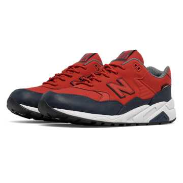New Balance 580 Wax Pack, Red with Navy