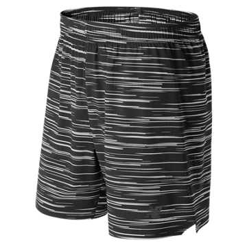 New Balance 7 Inch Shift Short, Black with Grey