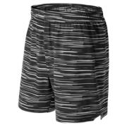 NB 7 Inch Shift Short, Black with Grey
