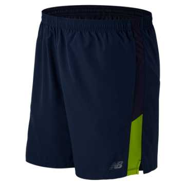 New Balance Accelerate 7 Inch Short, Abyss with Toxic