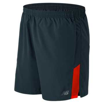 New Balance Accelerate 7 Inch Short, Alpha Orange with Supercell