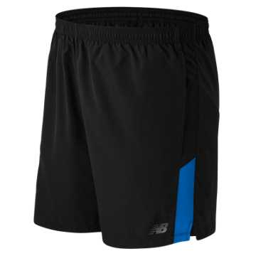 New Balance Accelerate 7 Inch Short, Black with Barracuda