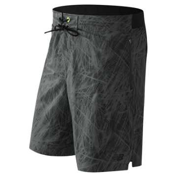 New Balance In Flux Board Short, Black with Grey