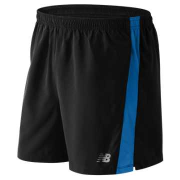New Balance Accelerate 5 Inch Short, Black with Barracuda