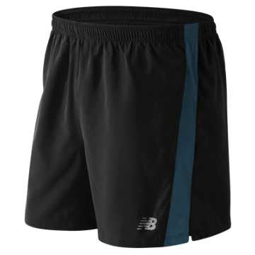 New Balance Accelerate 5 Inch Short, Black with Riptide
