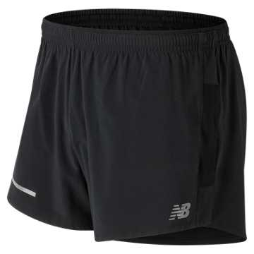 New Balance Impact 3 Inch Split Short, Black