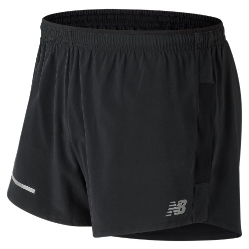 New Balance Impact 3 Inch Split Short Boy's Clothing Outlet - MS61231BK
