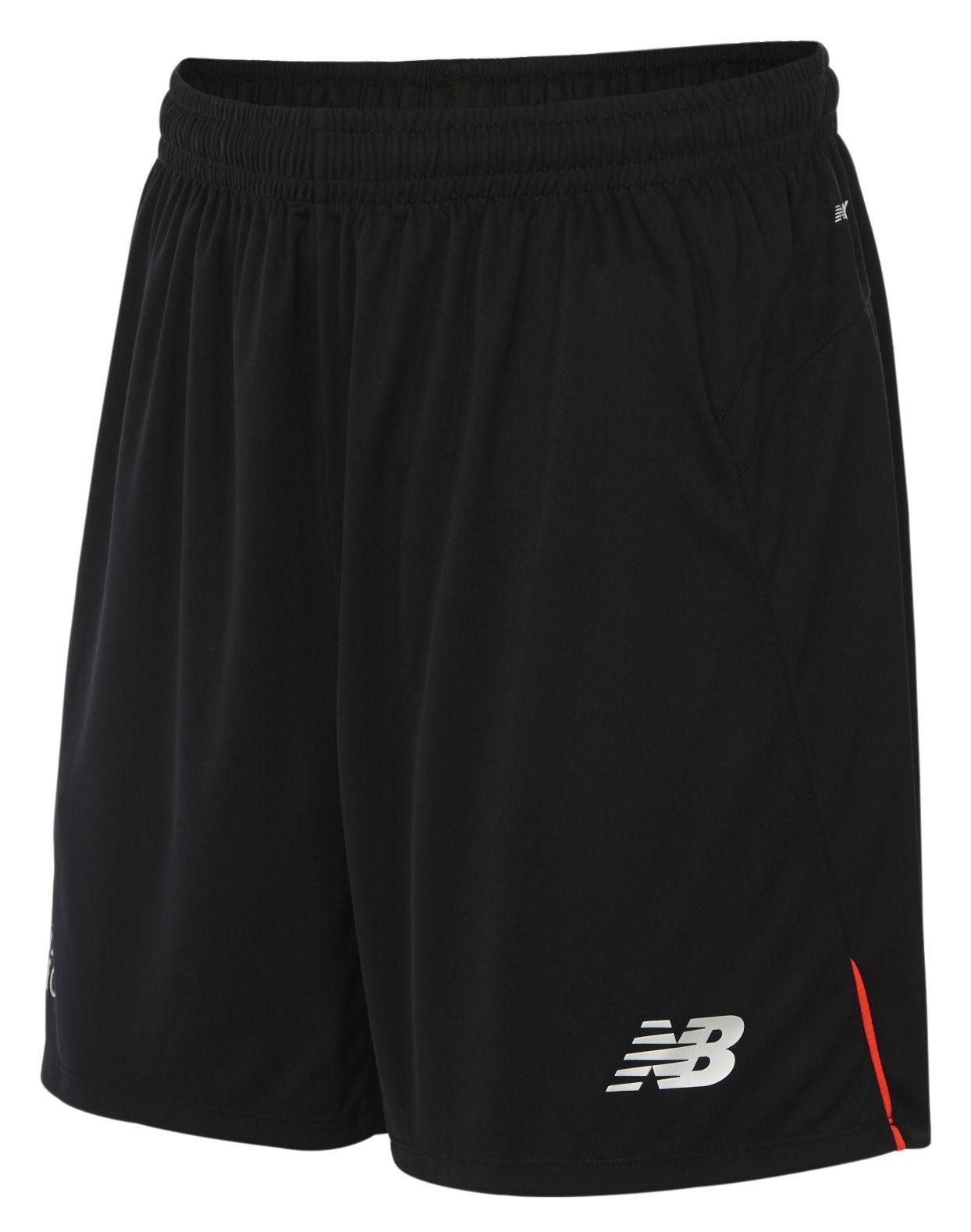 New Balance : LFC Mens Away Knitted Short : Men's 2016/17 Away Kit : MS630003BK