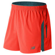 New Balance Impact 5 Inch Track Short, Alpha Orange with Supercell