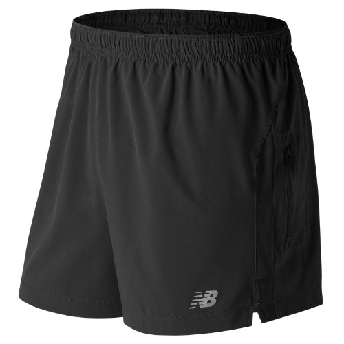 New Balance Impact 5 Inch Track Short Boy's Clothing Outlet - MS63226BK