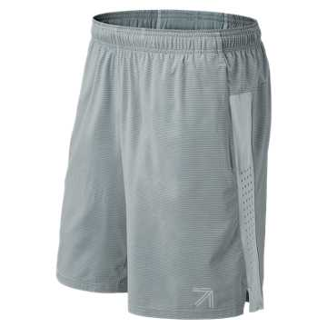 New Balance J.Crew Printed 9 Inch 2 in 1 Short, Grey Teddy Stripe with White