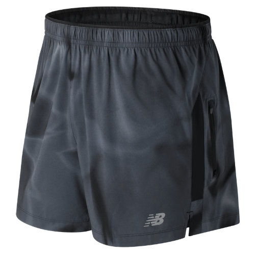 New Balance : Impact 5 Inch Printed Track Short : Men's Performance : MS71225ICM