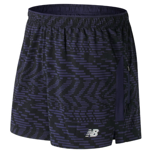 New Balance : Impact 5 Inch Printed Track Short : Men's Performance : MS71225SGG