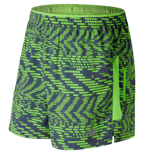 New Balance : Impact 5 Inch Printed Track Short : Men's Performance : MS71225SVI