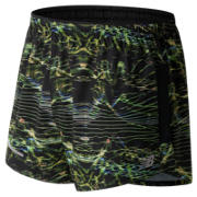 NB Impact 3 Inch Printed Split Short, Black Print