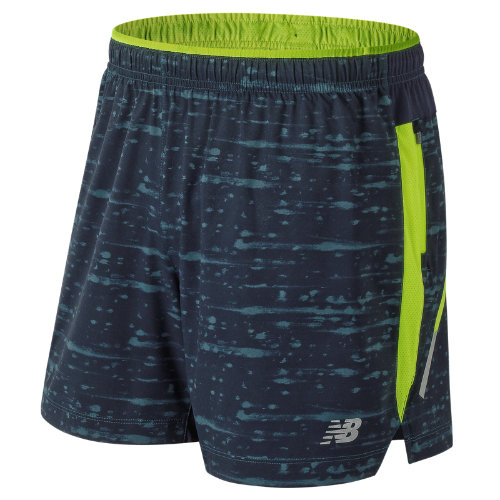 New Balance Printed Impact 5 Inch Short Boy's Performance - MS81264NOS