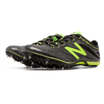 New Balance SD400v3 Spike, Black with Toxic
