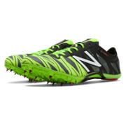 New Balance SD400v2 Spike, Black with Chemical Green