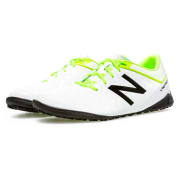 New Balance Visaro Control TF, White with Toxic