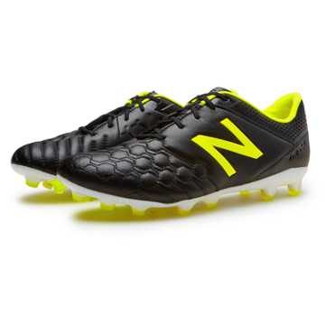 New Balance Visaro Pro K-Leather FG, Black with Firefly