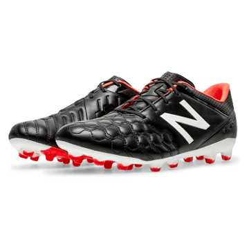 New Balance Visaro Pro K-Leather FG, Black with Red