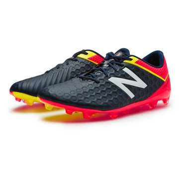 New Balance Visaro Mid Level FG, Galaxy with Bright Cherry & Firefly