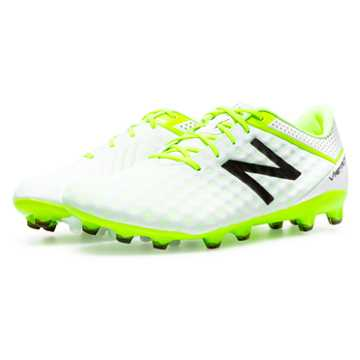 New Balance Visaro Pro FG, White with Toxic