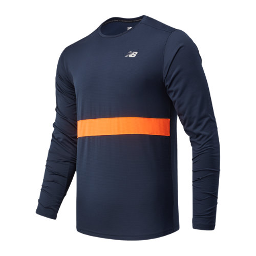 New Balance 03208 Men\\\'s Striped Accelerate Long Sleeve