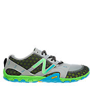Minimus 10V2 Trail, Grey with Green & Blue