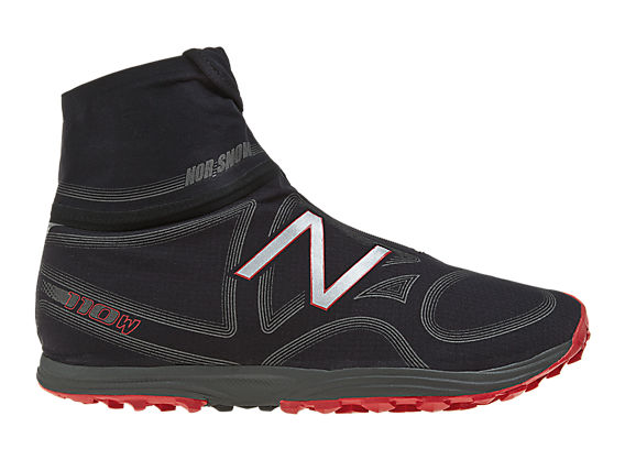 New Balance 110 Boot, Black with Red