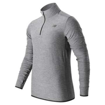New Balance N Transit Quarter Zip, Athletic Grey