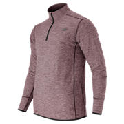 N Transit Quarter Zip, Burgundy Heather