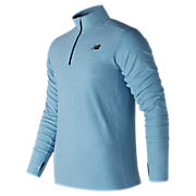 N Transit Quarter Zip, Clear with Sky Blue