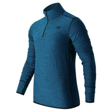 New Balance N Transit Quarter Zip, Electric Blue Heather