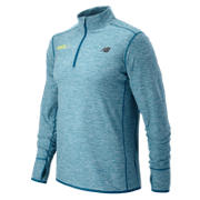 HOCR In Transit Quarter Zip, Deep Water Heather