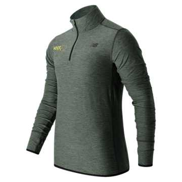 New Balance HOCR In Transit Quarter Zip, Heather Charcoal