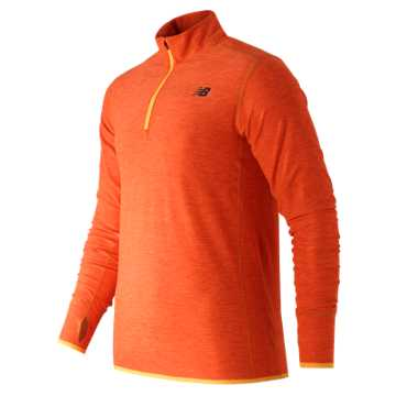 New Balance N Transit Quarter Zip, Lava Heather