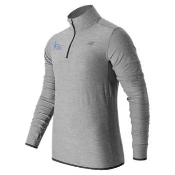 New Balance United NYC Half Quarter Zip, Athletic Grey