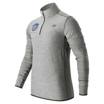 New Balance United NYC Half Quarter Zip, Athletic Grey with Black