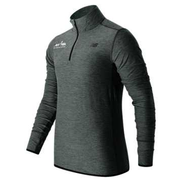 New Balance Run for Life Quarter ZIP, Heather Charcoal
