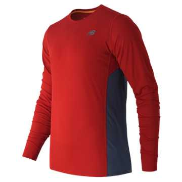 New Balance Accelerate Long Sleeve, Chrome Red with Crater