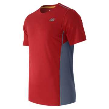 New Balance Accelerate Short Sleeve, Chrome Red with Crater