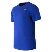 Accelerate Short Sleeve, Marine Blue with Black