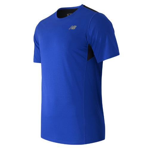 New Balance Accelerate Short Sleeve Boy's Clothing Outlet - MT53061MIB