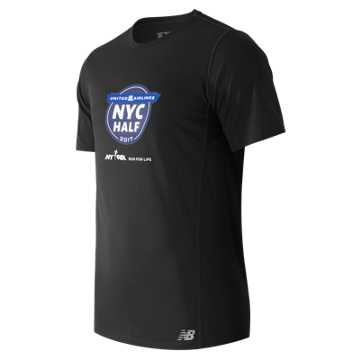New Balance United NYC Half Training SS Tee, Black