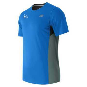 New Balance NYC Marathon Training SS Tee, Electric Blue
