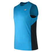 Accelerate Sleeveless, Electric Blue with Black